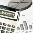 Bankrupt word — Stock Photo #6240789