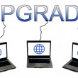 Upgrade word — Stock Photo