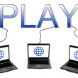 Royalty-Free Stock Photo: Play word