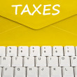 Taxes message — Stock Photo