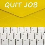Quit job message — Stock Photo