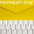 Payment due message — Foto Stock