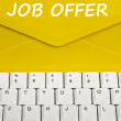 Stock Photo: Job offer message