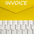 Invoice message — Stock Photo