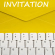 Invitation message — Stock Photo
