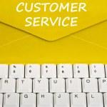 Customer service message — Stock Photo