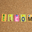 Welcome word — Stockfoto