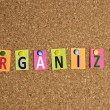 Stock Photo: Organize word
