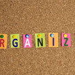 Organize word — Stock Photo #6241124