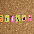 Stock Photo: Motivate word