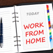 Work from home message — Stock Photo #6241174