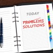 Problems and solutions message — Stock Photo