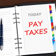 Stock Photo: Pay taxes message