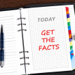 Get the facts message — Stock Photo #6241197