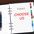 Choose us message — Stock Photo #6241203