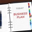 messaggio di piano di business — Foto Stock