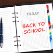 Back to school message - Stockfoto