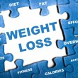 Foto Stock: Weight loss puzzle