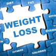 Weight loss puzzle — Stok fotoğraf