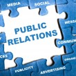 Public relations puzzle — Stock Photo