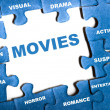 Movies puzzle — Stock Photo