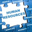 Human resources puzzle — Stock Photo