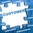 Customer puzzle - Foto de Stock