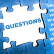 Questions puzzle — Stock Photo