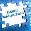 E-mail marketing puzzle — Stock Photo #6241295