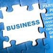 Business puzzle — Foto de Stock