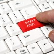 Safety first key — Stock Photo