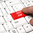 Stock Photo: Quit job key