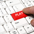 Play key — Stock Photo