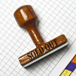 Sold out stamp — Stock Photo