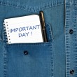 Important day message - Stock Photo