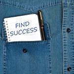 succes bericht zoeken — Stockfoto