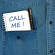 Call me message - Stock Photo