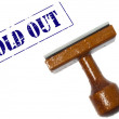 Sold out stamp — Stock Photo #6241626
