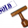 Sold stamp — Stock Photo