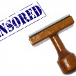 Censored stamp — Stock Photo
