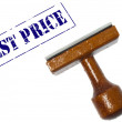 Best price stamp — Stock Photo