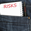 Risks message — Stock Photo