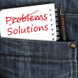 Stock Photo: Problems and solution message
