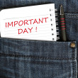 Stock Photo: Important day message