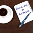Stock Photo: Questions and answers message