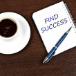Stock Photo: Find success message