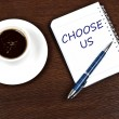 Choose us message — Stock Photo #6241724