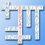 Education on crossword — Stock Photo