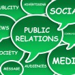 Public Relations cloud — Stock Photo