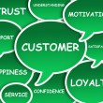 Customer cloud — Stock Photo